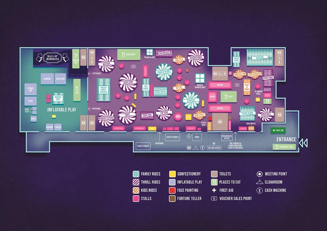 Carnival Map Irn Bru Carnival